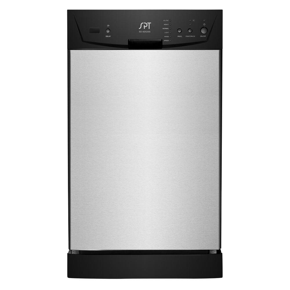 SPT 18 In. Built In Front Control Dishwasher In Stainless Steel