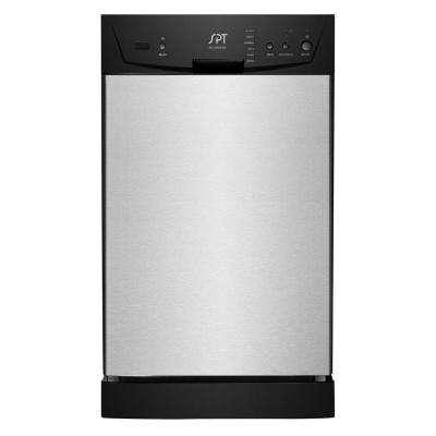 18 in. Built-In Front Control Dishwasher in Stainless Steel