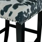 Linon Home Decor Carolyn Black Cow Print Bar Stool
