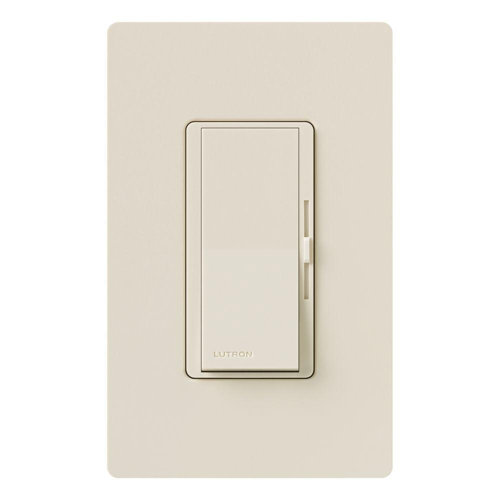 Diva Dimmer for Incandescent and Halogen with Wallplate, 600-Watt, Single-Pole,