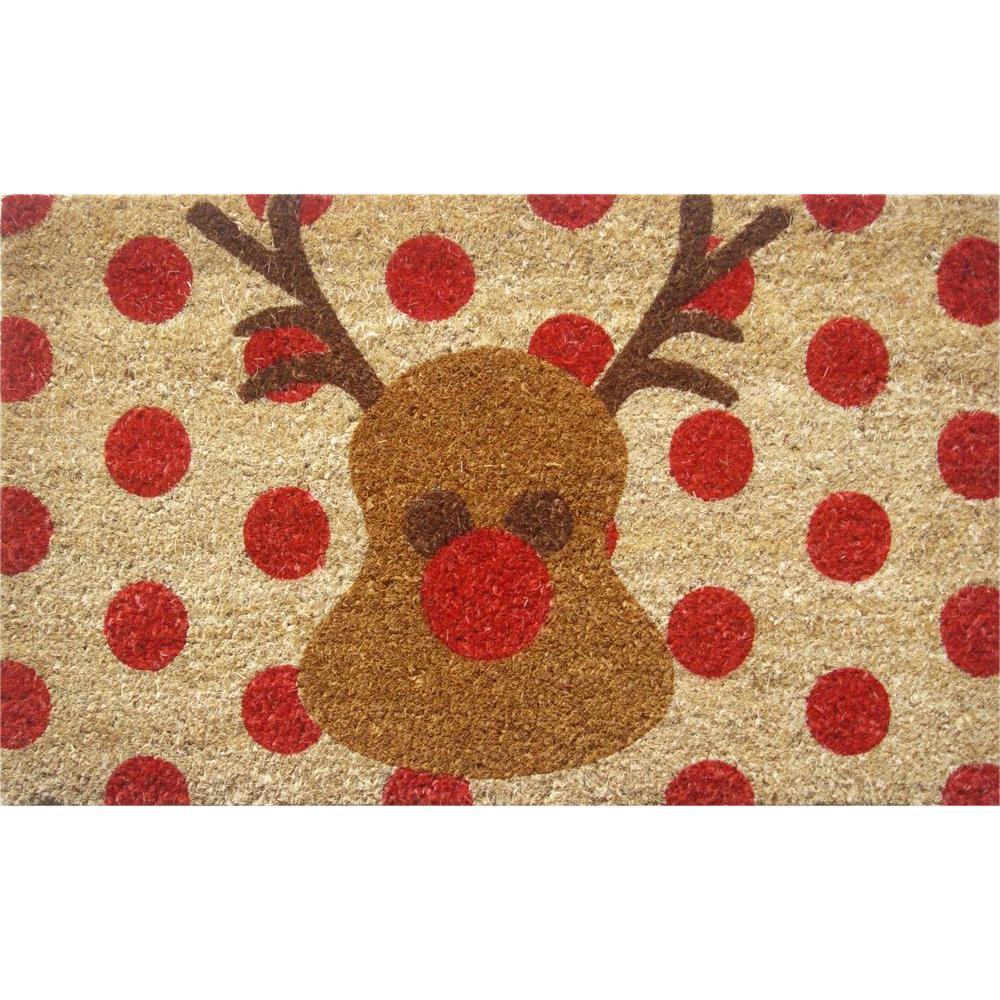 Rudolf 18 in. x 30 in. Hand Woven Coconut Fiber Door Mat