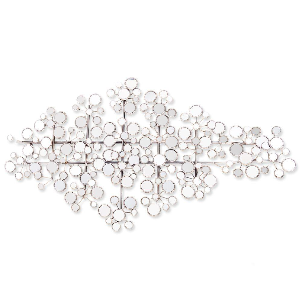 Southern Enterprises Southern Enterprises Newman Metal Mirrored Decorative Wall Sculpture, Silver