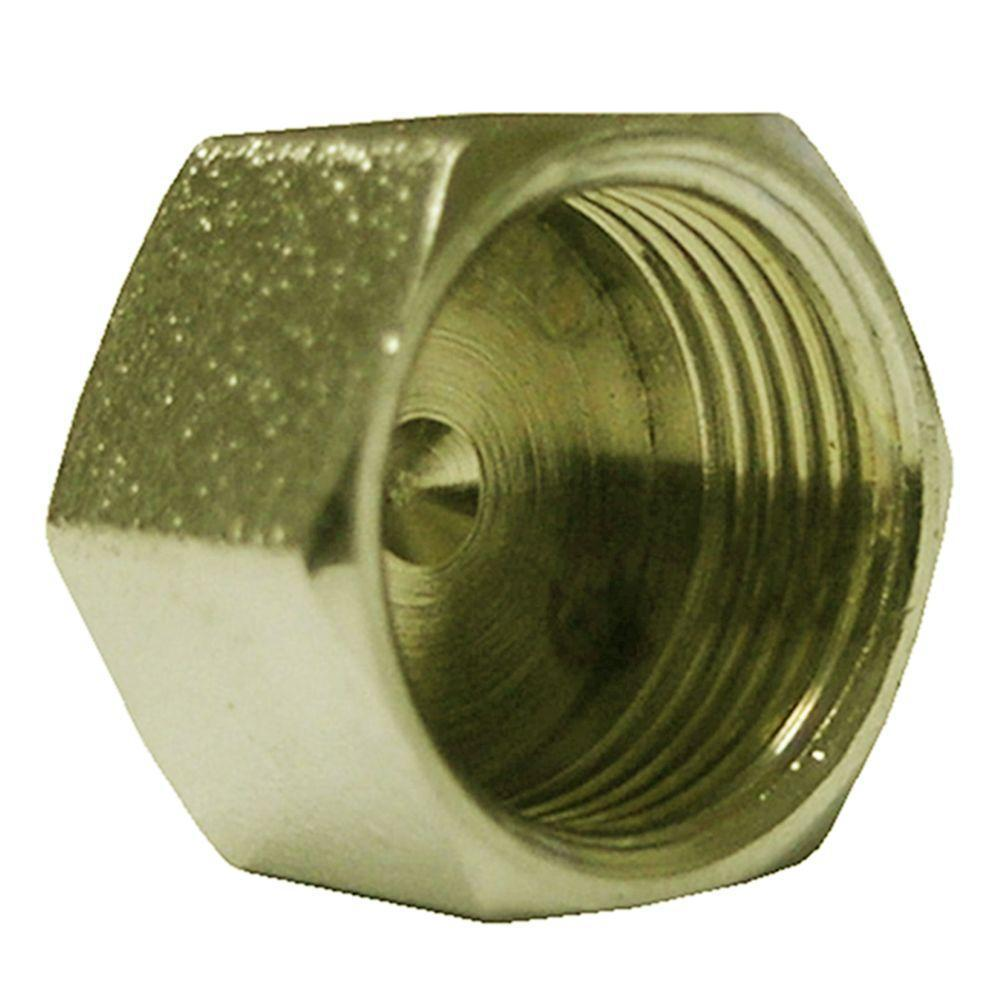 Everbilt 3/8 in. O.D. Lead-Free Brass Compression Cap Fitting