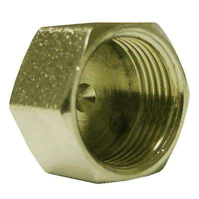 3/8 in. O.D. Lead-Free Brass Compression Cap