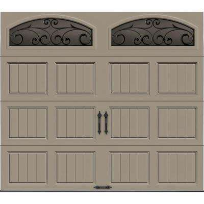 Gallery Collection Insulated Short Panel Garage Door with Wrought Iron Window