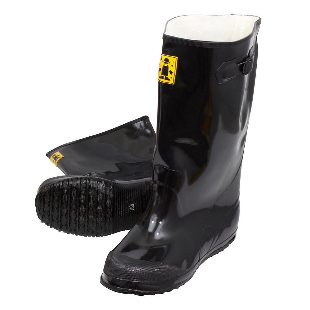 Men Slush Boots 17 in. Size 10 Black Heavy-Duty Rubber Over-Shoe (6-Pack)