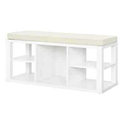 Nelson White Storage Bench