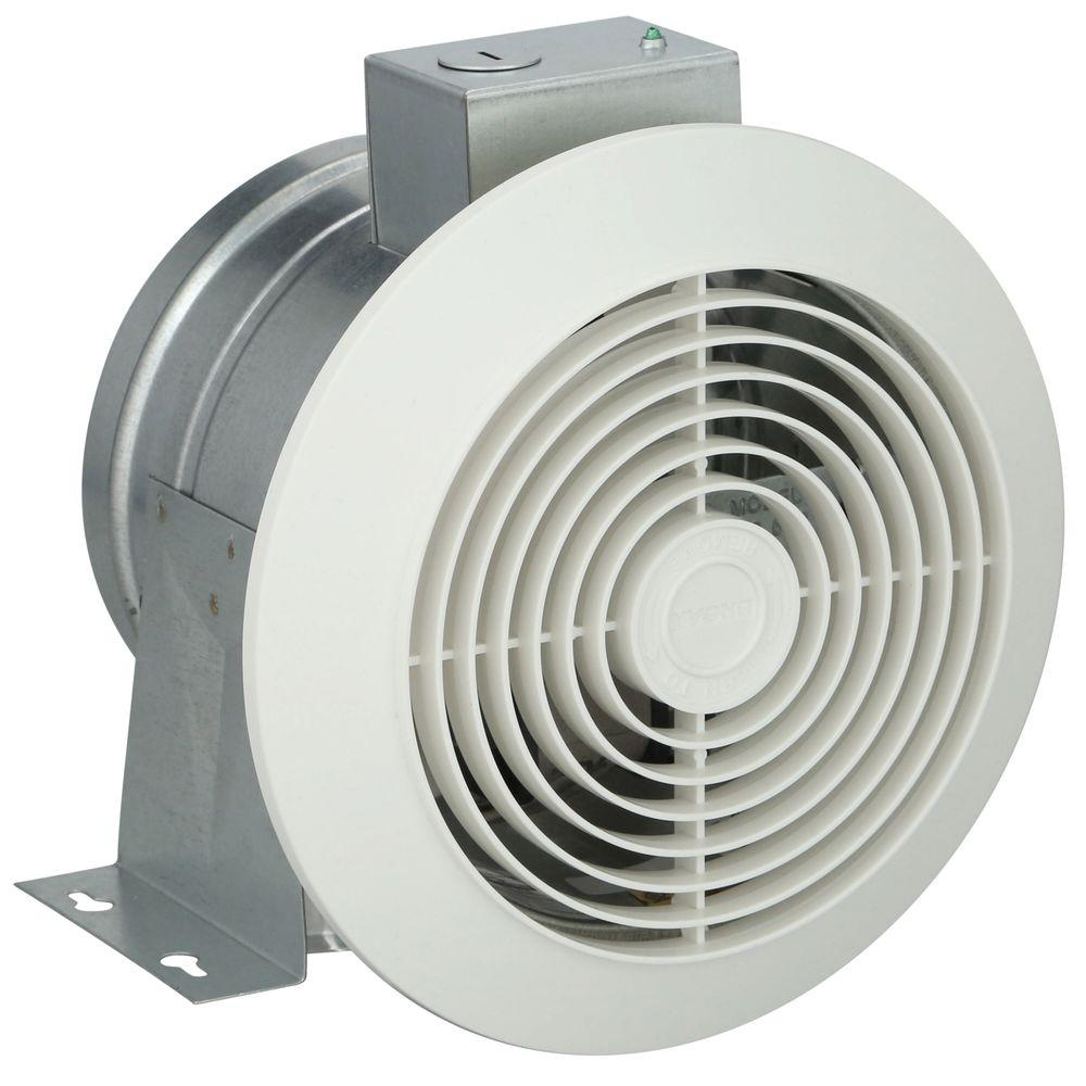 60 cfm white ceiling exhaust fan 673 the home depot for Exterior mounted exhaust fans for bathroom