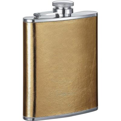 Goldie Satin Gold Liquor Flask