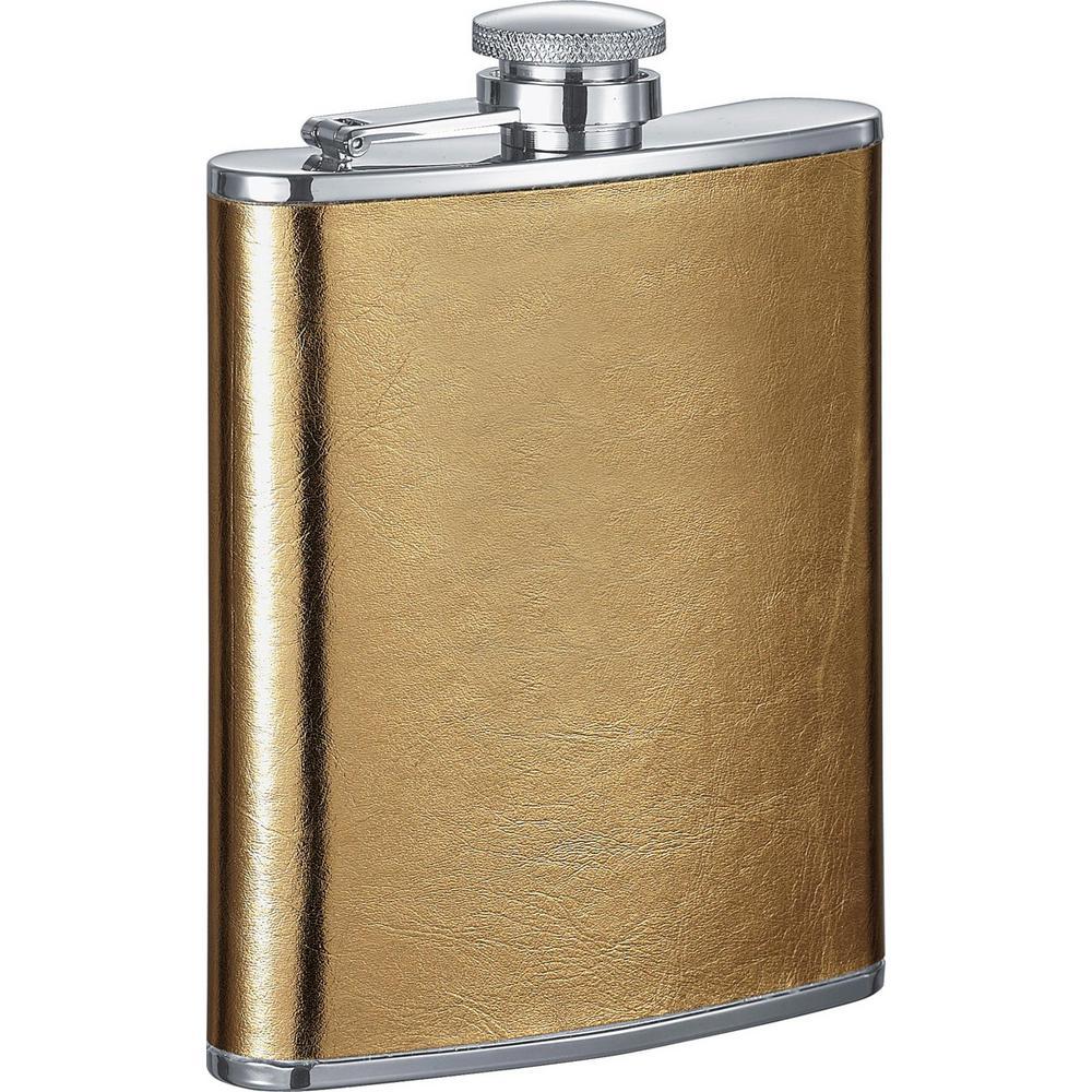 Goldie Satin Gold Liquor Flask