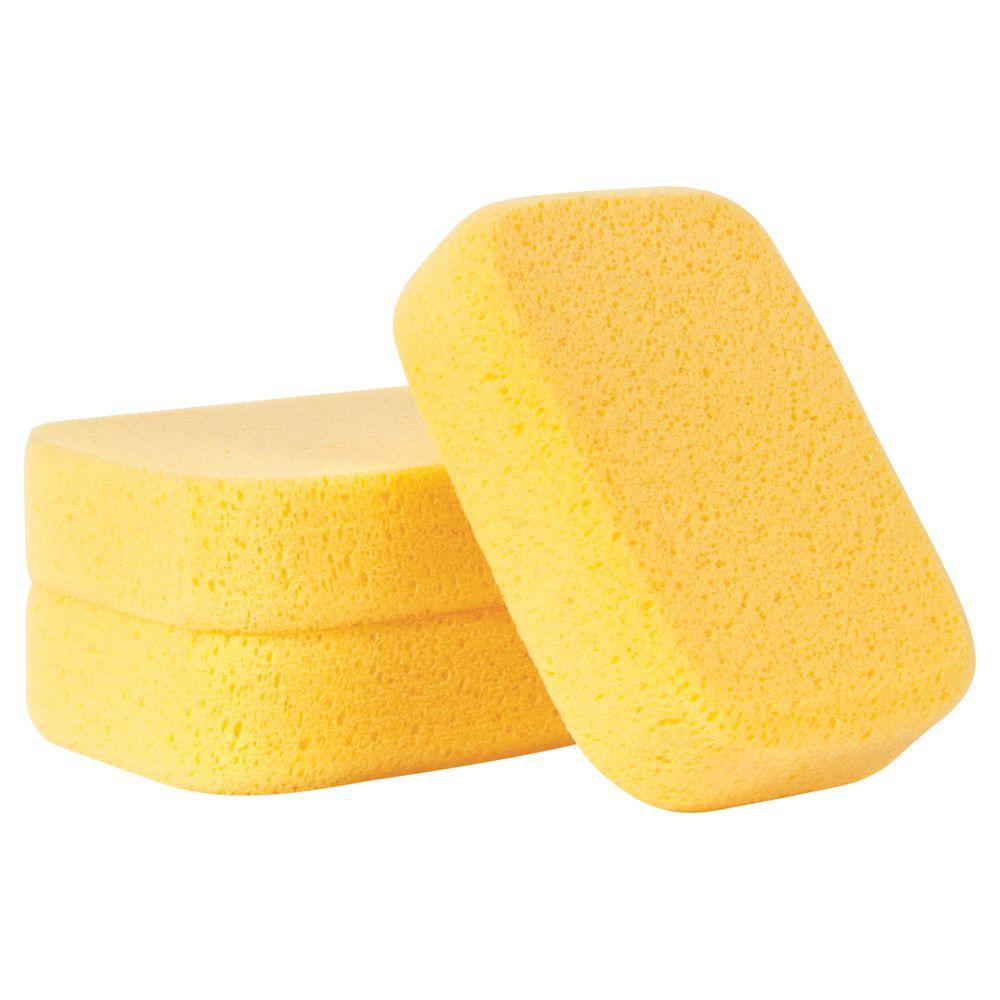 QEP 7-1/2 in. x 5-1/2 in. x 1-7/8 in. Extra Large Grouting, Cleaning and Washing Sponge (3-Pack)