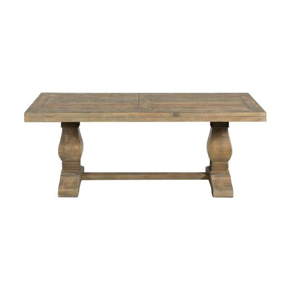 Martin Svensson Home Napa 50 In Reclaimed Natural Large Rectangle Wood Coffee Table With Pedestal Base 860124 The Home Depot
