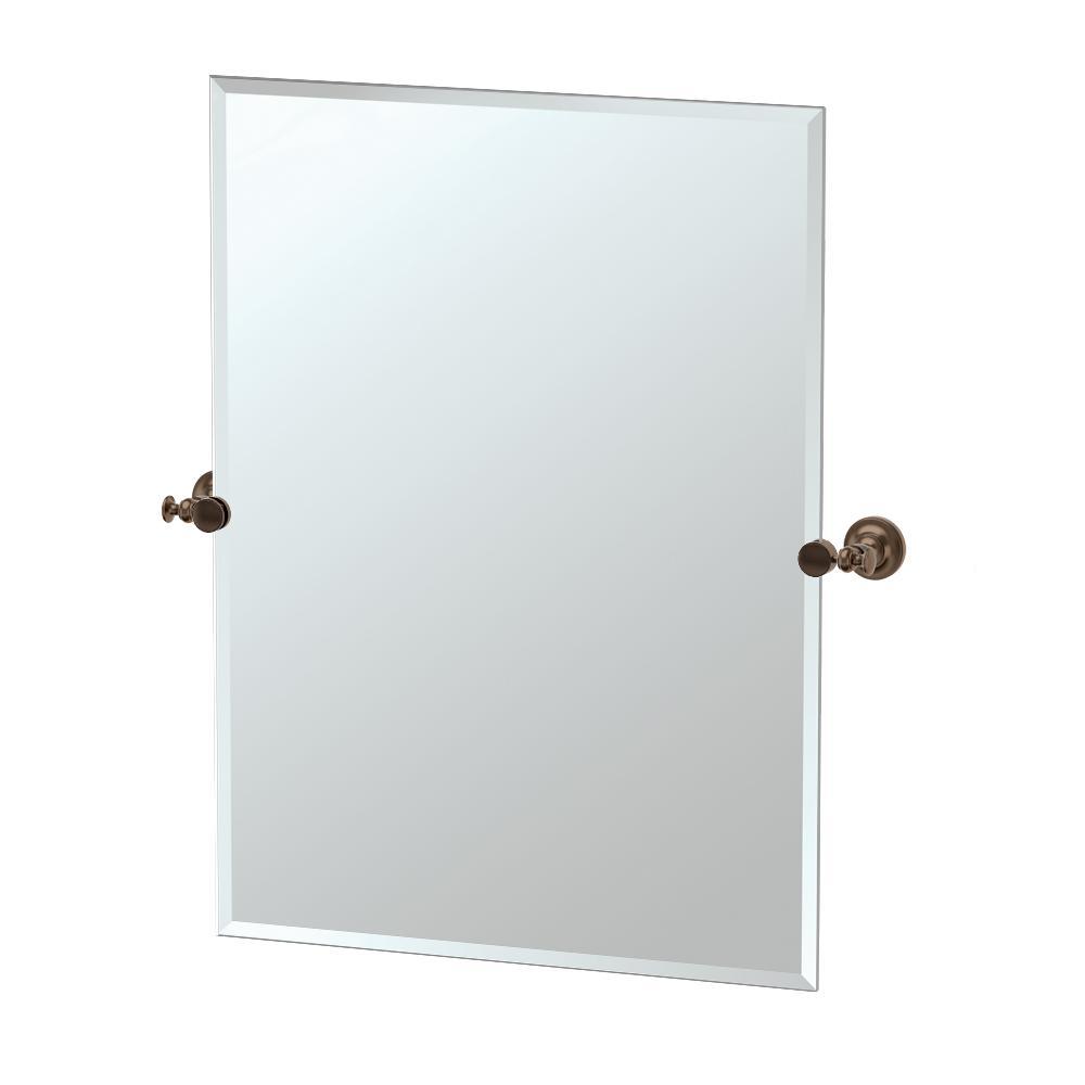 Gatco Tavern 32 in. L x 28 in. W Rectangle Wall Mirror