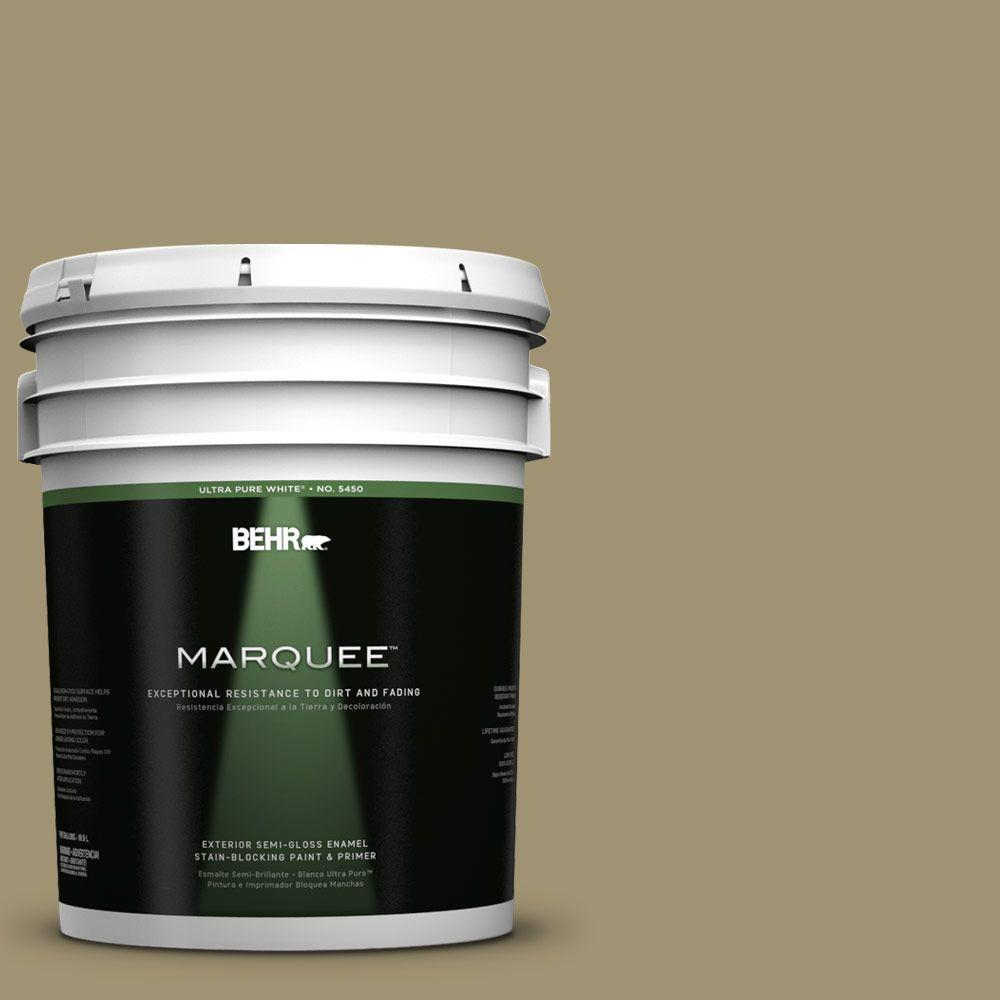 BEHR MARQUEE 5-gal. #PMD-37 Caraway Semi-Gloss Enamel Exterior Paint