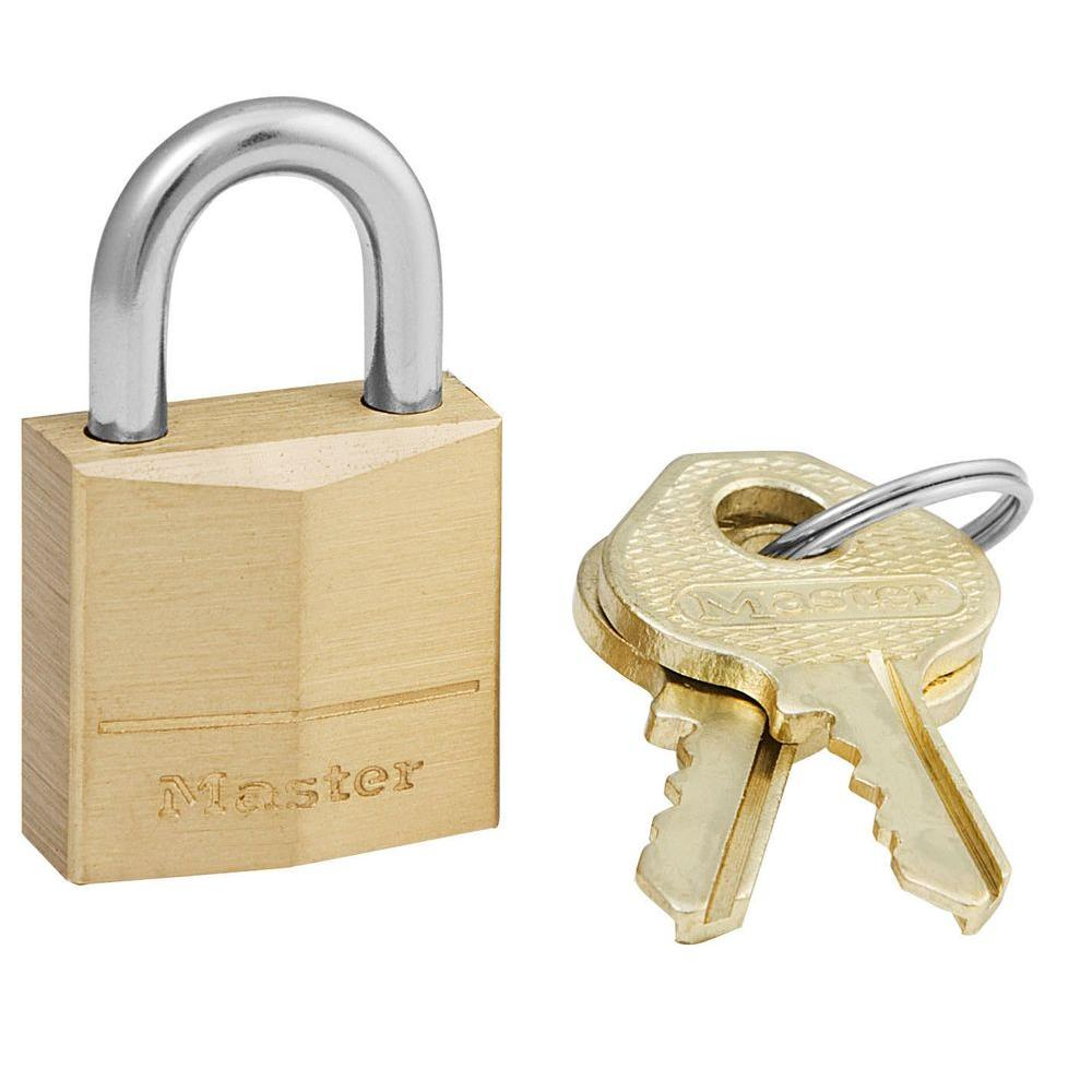 a49160af7880 Master Lock 3/4 in. Solid Brass Padlock