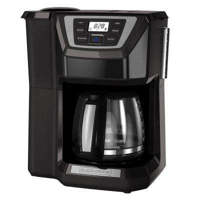 Mill and Brew 12-Cup Programmable Coffeemaker with Built-In Grinder