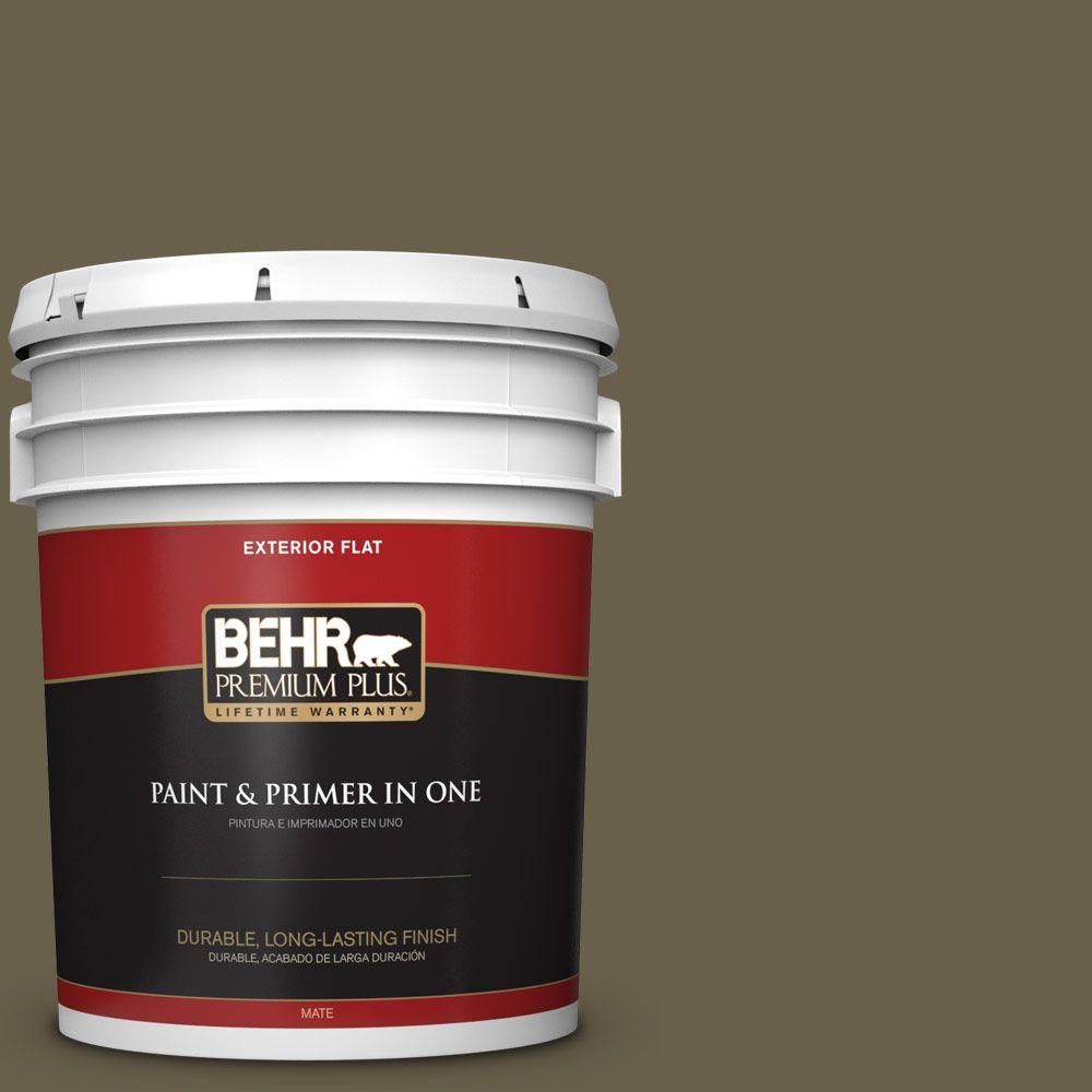 BEHR Premium Plus 5-gal. #N340-7 Kilimanjaro Flat Exterior Paint