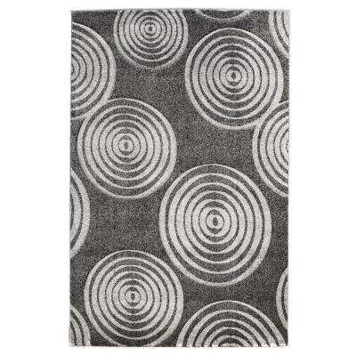 Milan Collection Black and Grey 8 ft. x 10 ft. Indoor Area Rug