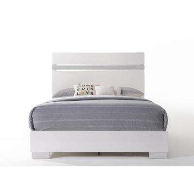 Naima II White Queen Bed