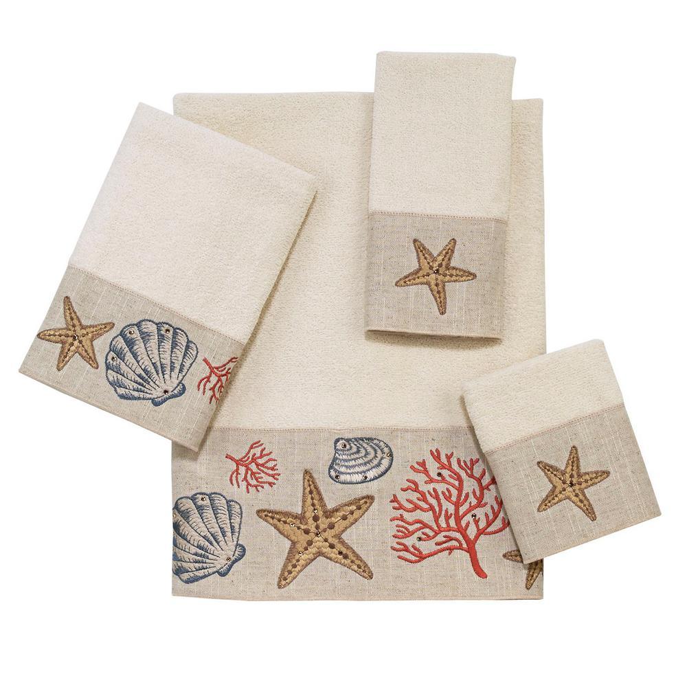 Sea Treasure 4-Piece Bath Towel Set in Ivory