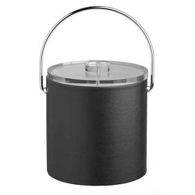 Contempo 3 Qt. Black Ice Bucket with Bale Handle and Thick Lucite Lid