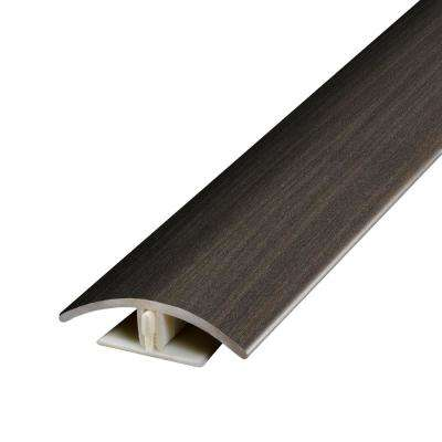 Oak Strip Charcoal .37 in. Thick x 1.75 in. Wide x 78.7 in. Length Vinyl 2-in-1 Molding