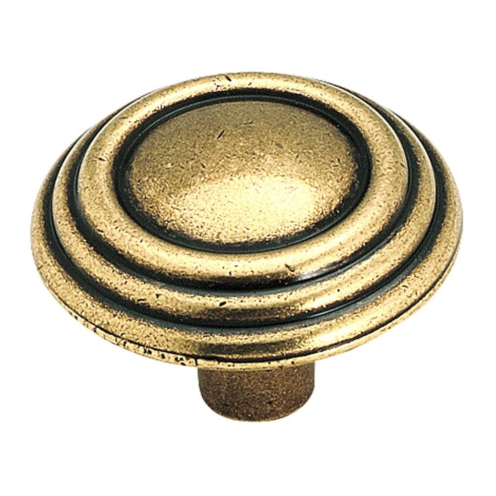 1-1/4 in. Burnished Brass Cabinet Knob