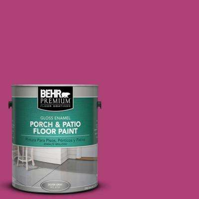 1 gal. #100B-7 Hot Pink Gloss Interior/Exterior Porch and Patio Floor Paint