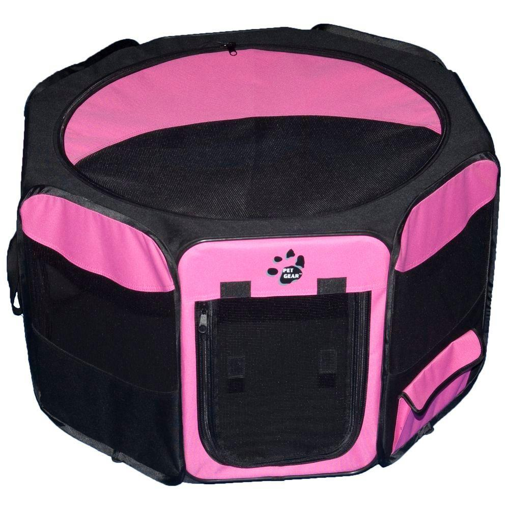 Pet Gear 46 in. L x 46 in. W x 28 in. H Octagon Pet Pen with Removable Top