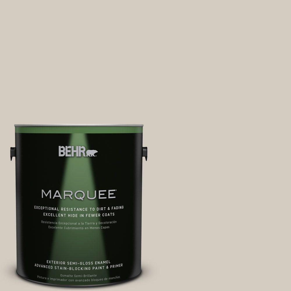 1-gal. #N220-2 Ashen Tan Semi-Gloss Enamel Exterior Paint