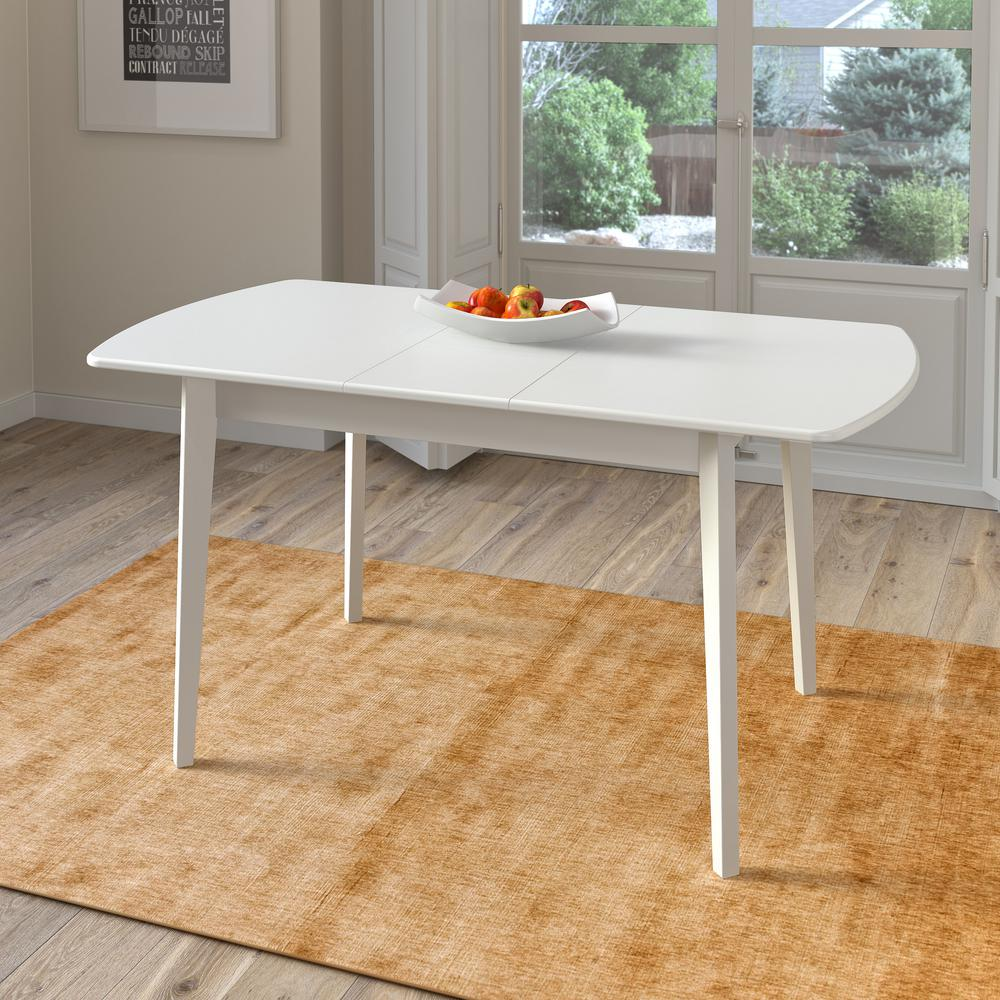 CorLiving Dillon White Wood Extendable Oblong Dining TableDSHT - Oblong dining table with leaf