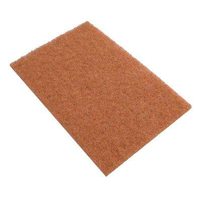 6 in. x 9 in. Brown Walnut Shell Scratch Resistant Cleaning Pad (20-Pack)