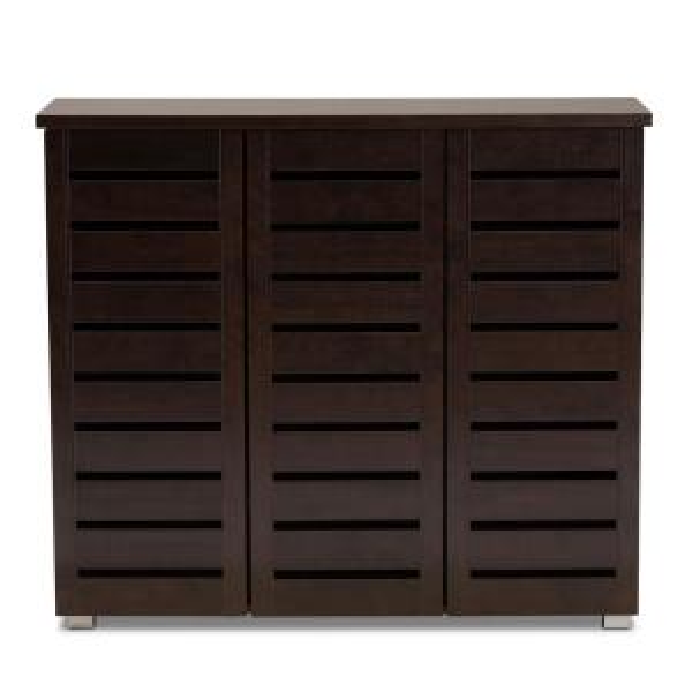 Adalwin Dark Brown Storage Cabinet