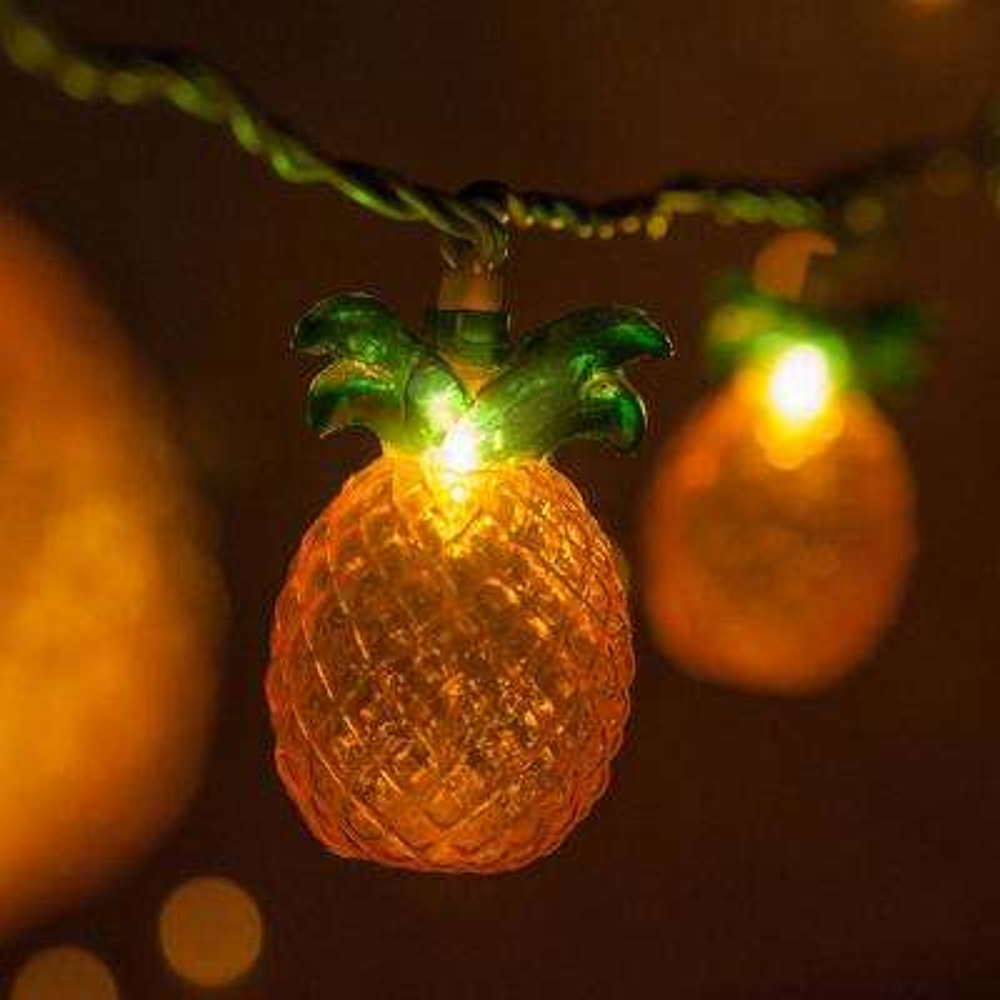 9 ft. 10-Light Pineapple String Light Set