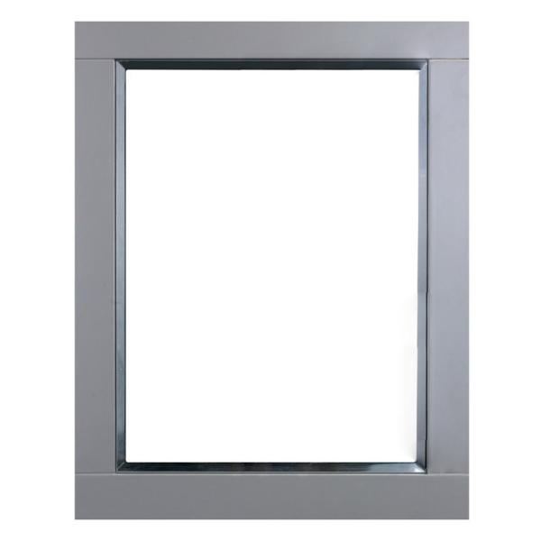 Eviva Aberdeen 24 In W X 30 In H Framed Wall Mounted Vanity Bathroom Mirror In Gray Evmr412 24x30 Gr The Home Depot