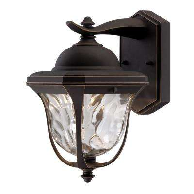 Marquette Aged Bronze Patina Outdoor LED Wall Lantern