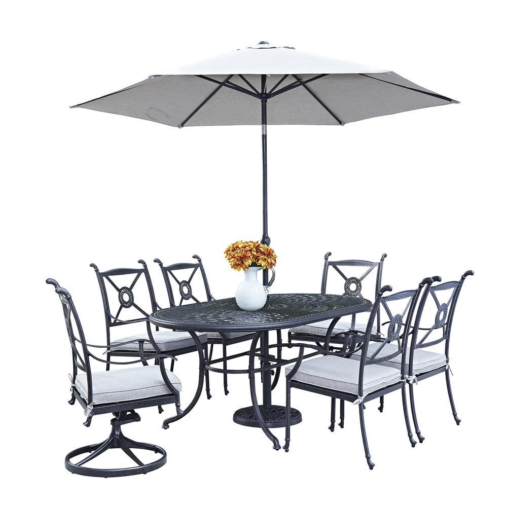 Athens 7-Piece Patio Dining Set with Umbrella