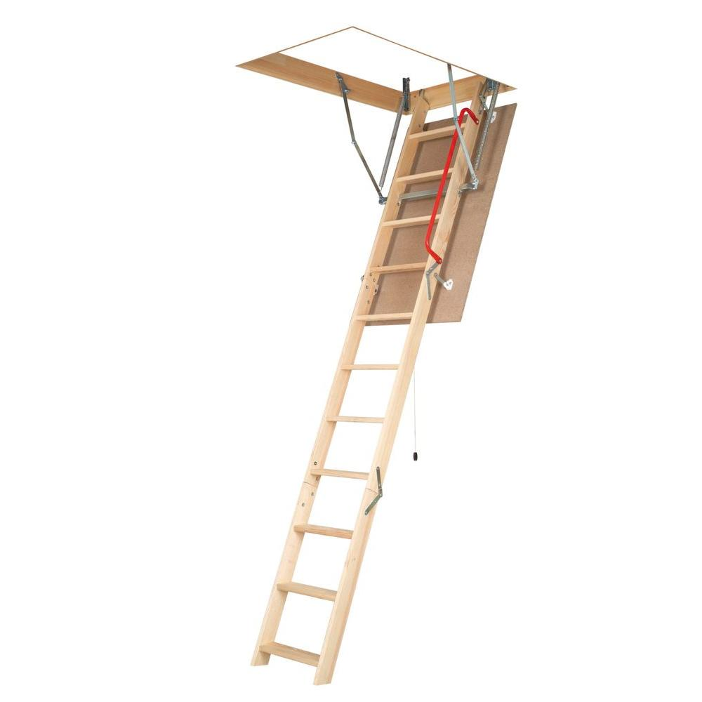 Fakro 10 ft. 1 in., 54 in. x 25 in. Wood Attic Ladder with 300 lb. Load Capacity Type IA Duty Rating