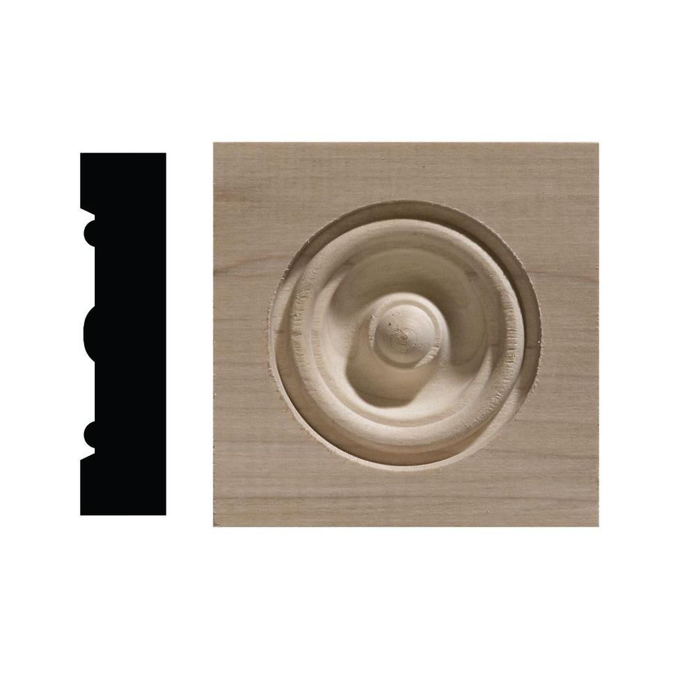 Ornamental Mouldings 734C 13/16 in. x 3-1/2 in. x 3-1/2 in. Pine Corner Block Moulding
