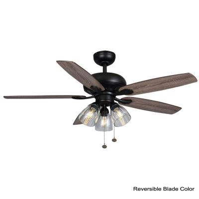 Rockport 52 in. LED Matte Black Ceiling Fan