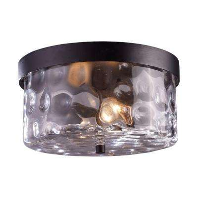 Grand Aisle 2-Light Hazelnut Bronze Outdoor Flushmount