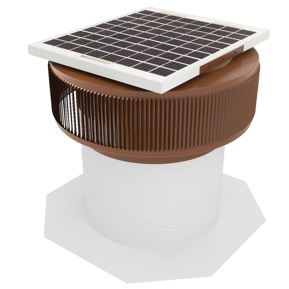 740 CFM Brown Powder Coated 10-Watt Solar Powered 12 in. ...