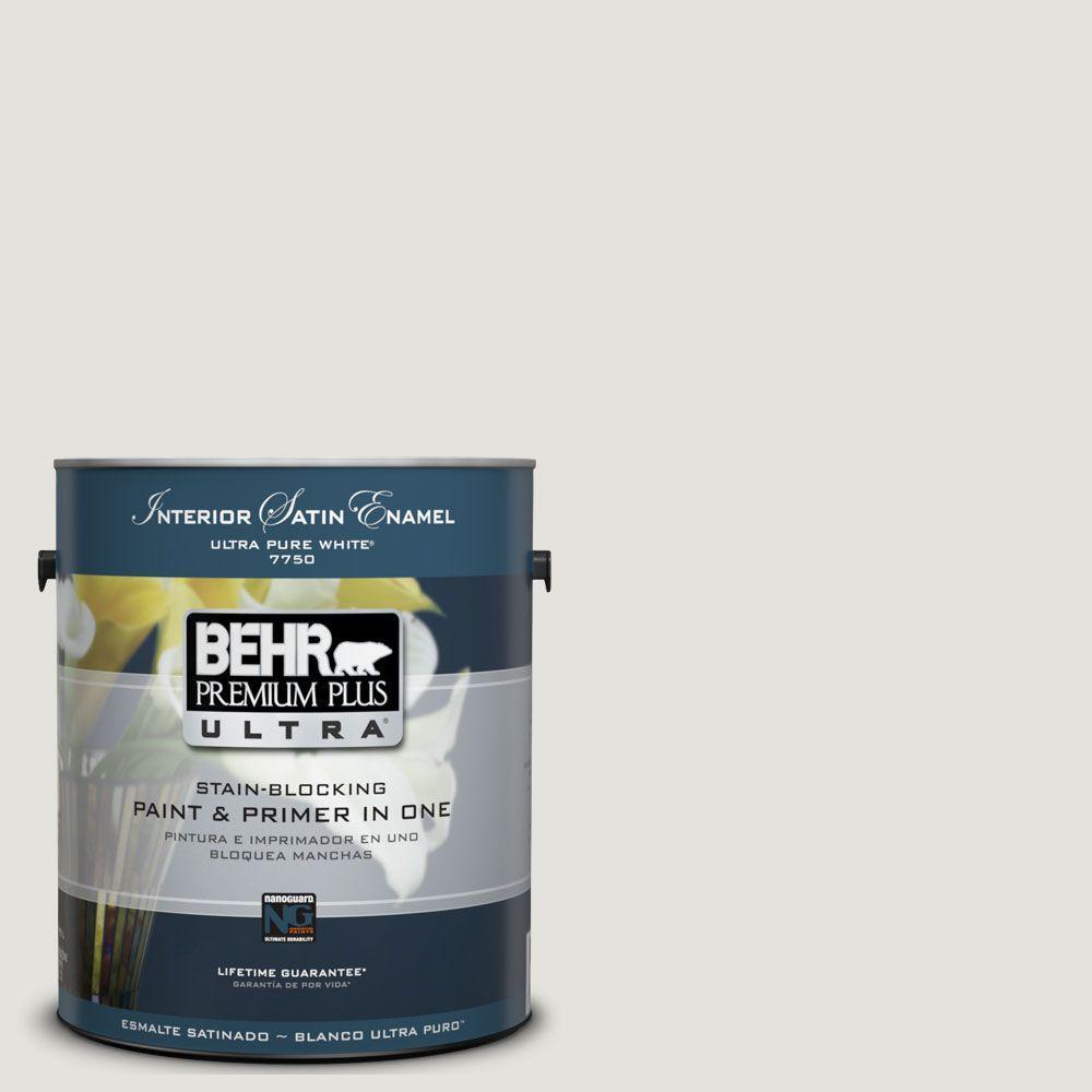 BEHR Premium Plus Ultra 1-Gal. #UL200-11 Polished Interior Satin Enamel Paint