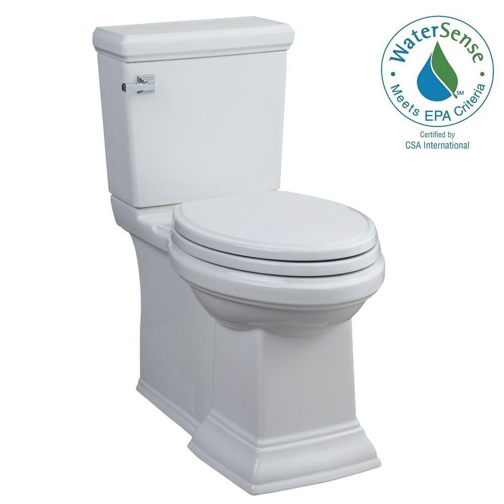 American Standard Town Square FloWise 2-piece 1.28 GPF Single Flush Right Height Elongated Toilet in White