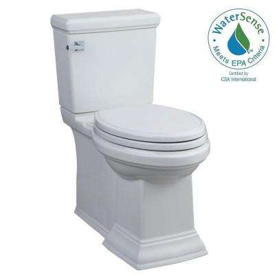 Town Square FloWise 2-piece 1.28 GPF Single Flush Right Height Elongated Toilet in White