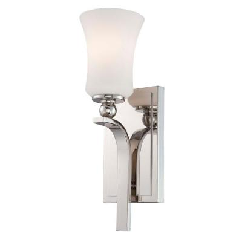 Ameswood 1-Light Polished Nickel Sconce