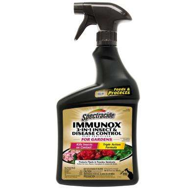 Immunox 32 oz. Ready-to-Use 3-in-1 Insect and Disease Control Plus Fertilizer for Gardens