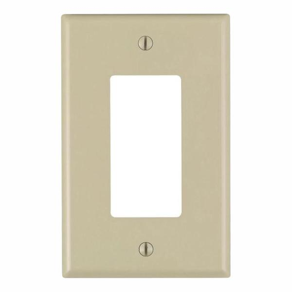 Ivory 1-Gang Decorator/Rocker Wall Plate (10-Pack)