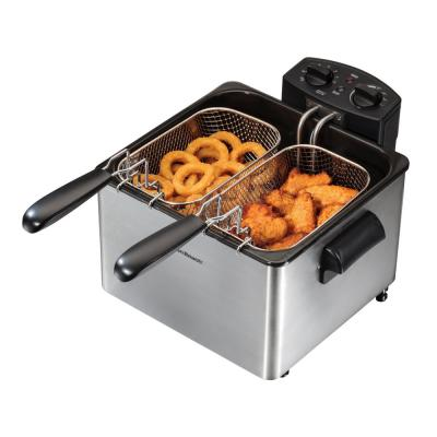 3 Qt. Stainless Steel Professional-Style Deep Fryer