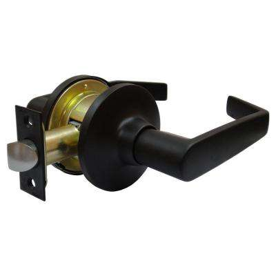 Oil-Rubbed Bronze Tubular Calypso Passage Lever